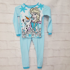Disney Frozen Pajamas Size 8 / 10 Medium Girls